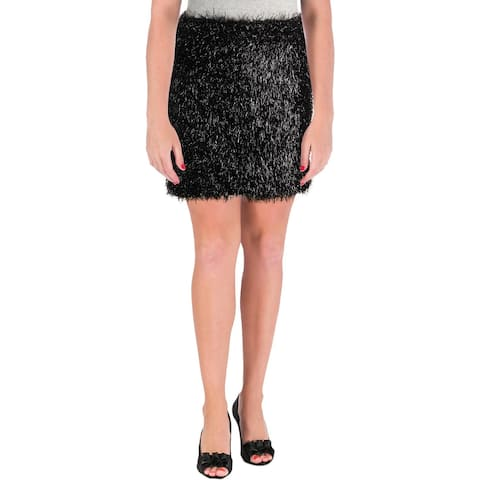 French Connection Womens Mini Skirt Metallic Tassel