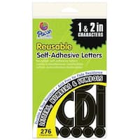 Pacon Self-Adhesive Letter 1 in, 2 in, Black, Pack of 276