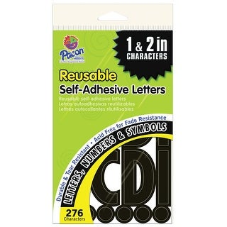 Pacon Self-Adhesive Letters, 1 and 2 Inch, Black, Pack of 276