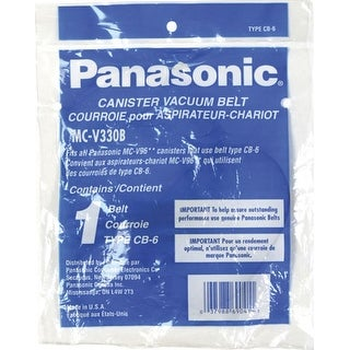 "Panasonic MC-V330B Vacuum Belt - 10"" x 6.5"" x 4"" - 2/Pack"