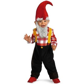 Disguise Garden Gnome Infant/Toddler Costume - Black/Red