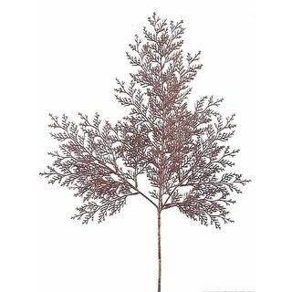 "Pack of 36 Copper Glittered Cedar Christmas Holiday Sprays 22"""