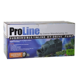 Pondmaster ProLine Submersible/Inline Hy-Drive Pump (4,800 GPH with 20 Cord)