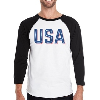 USA With Stars Mens 4th Of July Baseball Tee Gift Idea For Army Dad