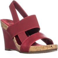 Aerosoles Magnolia Plush Wedge Sandals, Red