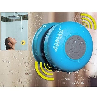 AGPtek Waterproof Wireless Bluetooth Shower Speaker,Handsfree Portable Speakerphone with Built-in Mic(Blue)