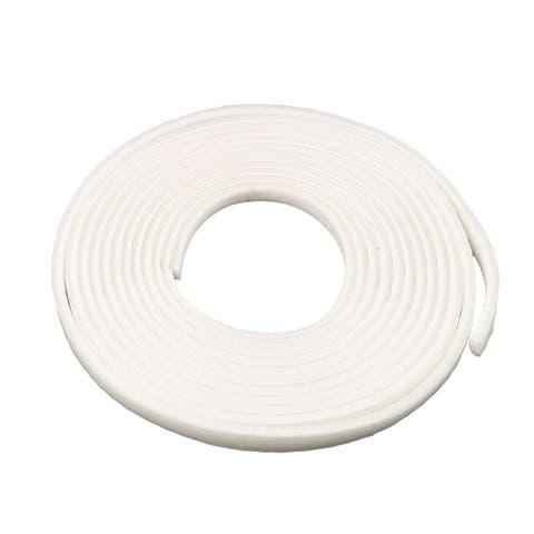 Furniture Door Seal Strip Weather Stripping for Window White 16.4 Ft(3/8 Inch Width x 3/16 Inch Thick)