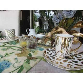 Certified International Matrix Gold Plated Mugs, Set of 6