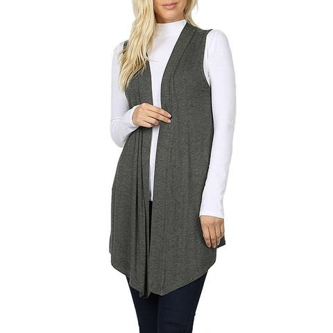 NioBe Clothing Womens Sleeveless Open Draped Lightweight Cardigan Vest