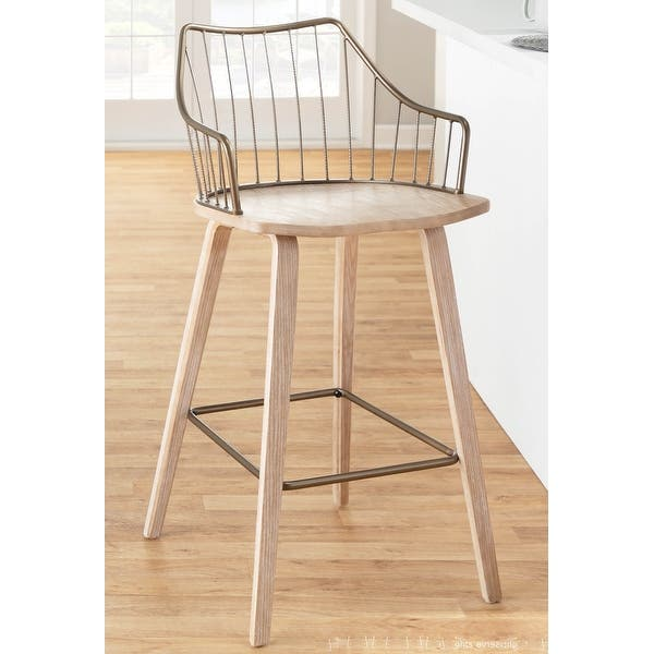The Gray Barn Winston Counter Stool Overstock 32294006 Dark Walnut Wood Brown Metal