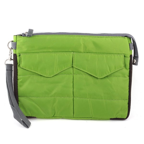 Unique Bargains Travel Portable Insert Bag Cover Pouch Handbag Organizer Green for Tablet PC