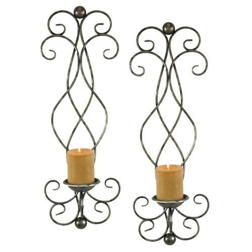 Aspire Home Accents 6625 Estelle Candle Wall Sconce (Set of 2) - Silver