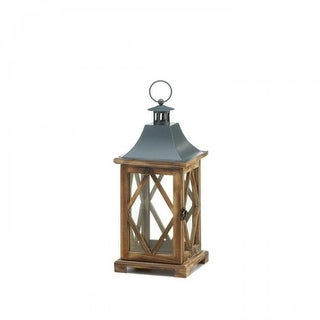 Link to Wooden Diamond Motif Wooden Lantern Similar Items in Decorative Accessories