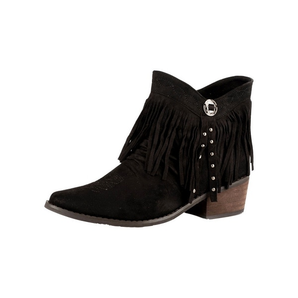 Roper Western Boot Womens Fringy Suede Shorty