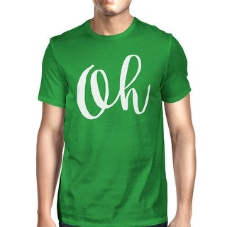 Oh Mans Kelly Green Tee Cute Short Sleeve Typographic T-shirt