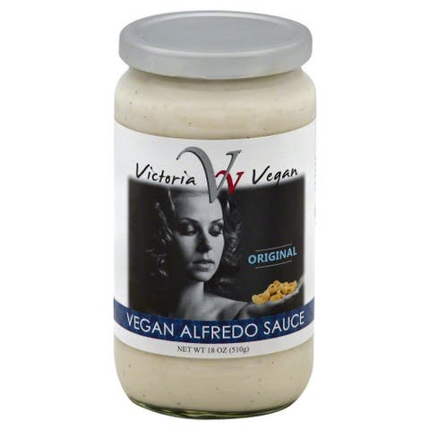 Victoria Vegan Sauce - Alfredo Artichoke - Case of 6 - 18 Fl oz.