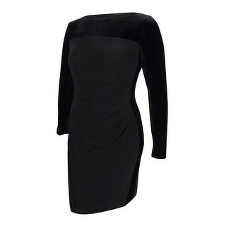 American Living Women's Velvet-Jersey Sheath Dress - Black