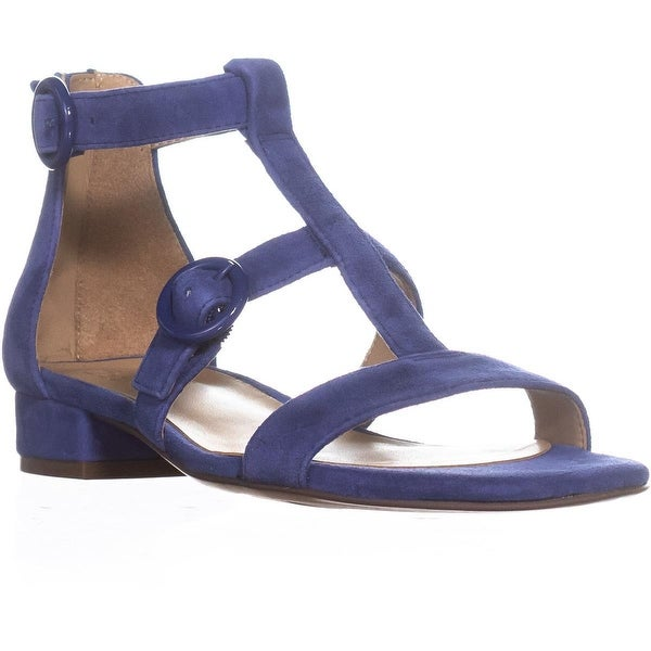 naturalizer Mabel Flat Ankle Strap Sandals, Sapphire Suede
