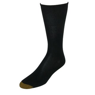 Gold Toe Men's Rayon from Bamboo Non Binding Crew Socks (2 Pair Pack)