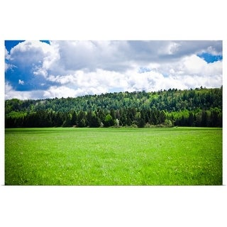"""Rural landscape with pasture and trees"" Poster Print"
