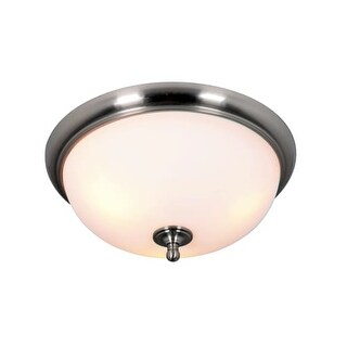 "Craftmade 39983 Brighton 3 Light Flush Mount Ceiling Fixture - 19"" Wide"