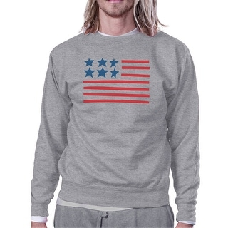 USA Flag Cute American Flag Design Sweatshirt Unisex Grey Fleece