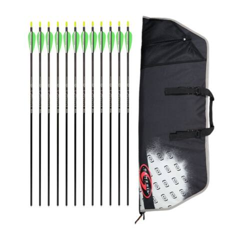 "Easton Case for Genesis Bows Original Compound Bow (Black) w/12 Arrows - 30"""