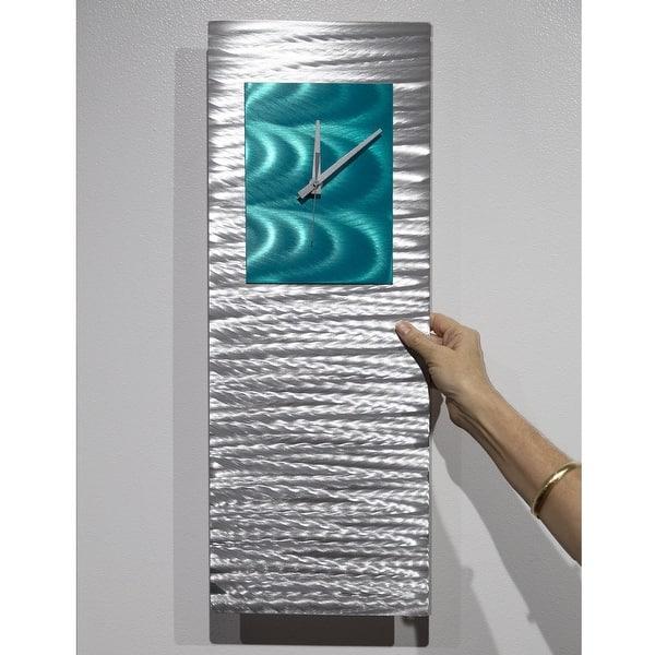 Statements2000 Modern Metal Wall Clock Art Abstract Decor By Jon Allen Radiance Clock 24 X 9 Overstock 27545421