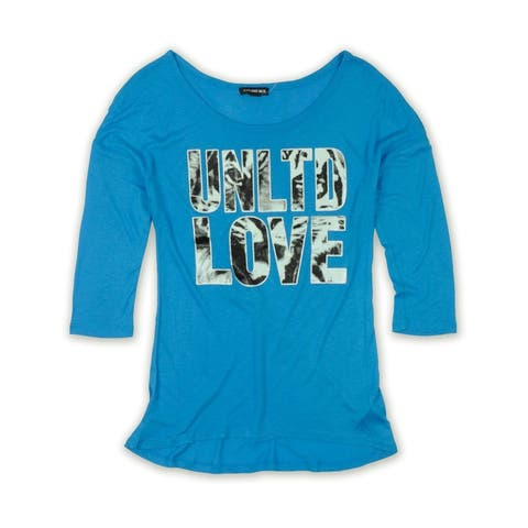 Ecko Unltd. Womens Ls Animal Love Opnk Graphic T-Shirt