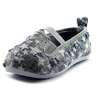 Coco Jumbo Double Gore Star Print Slip On Toddler Round Toe Canvas Sneakers