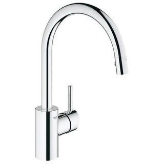 Grohe 32 665 Concetto Pull-Down High-Arc Kitchen Faucet with Single Function Locking Sprayer
