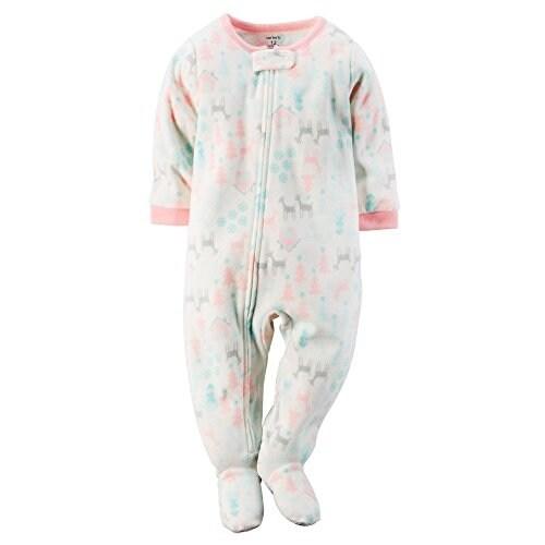 Carter's Baby Girls' One Piece Footed Fleece Pajamas