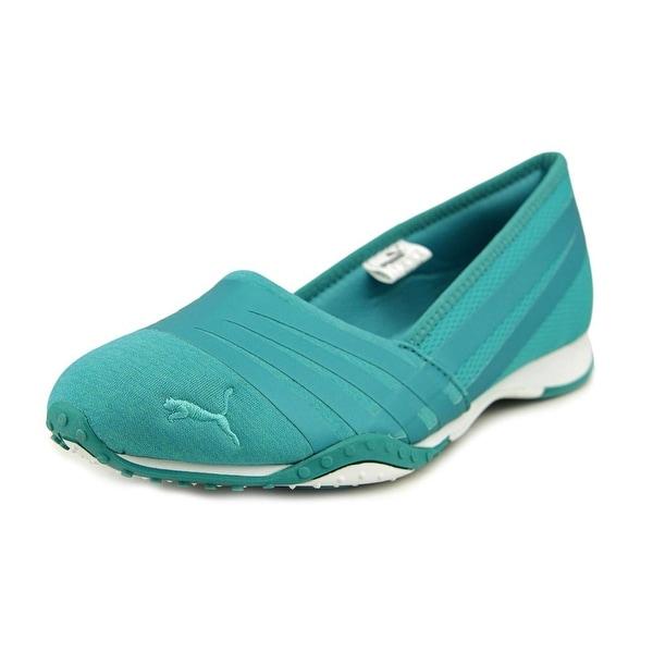 Shop Puma Asha Alt 2 Shine Women Round Toe Canvas Green Walking Shoe ... 7dc06490d