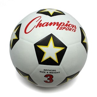 Champion Sports Size 3 Rubber Cover Soccer Ball
