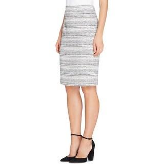 Tahari ASL Womens Petites Pencil Skirt Wool Blend Knee-Length