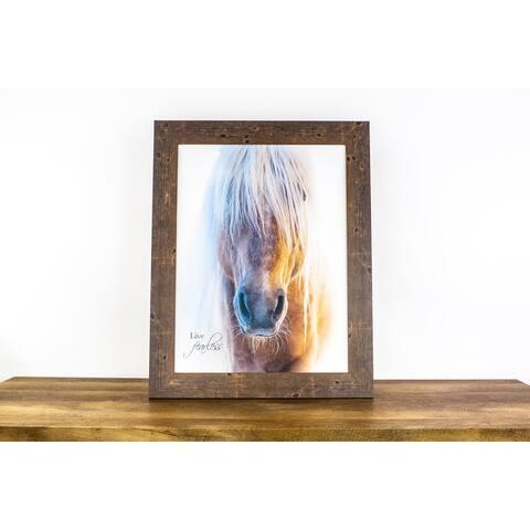 Horse Western Live Fearless Haflinger Equine Framed Art Inspirational Decor