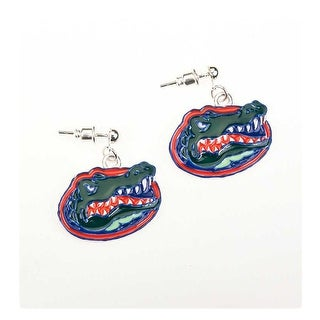 University of Florida Crystal Gator Dangle Earrings