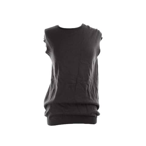 Alfani Black Cap-Sleeve Sweater L