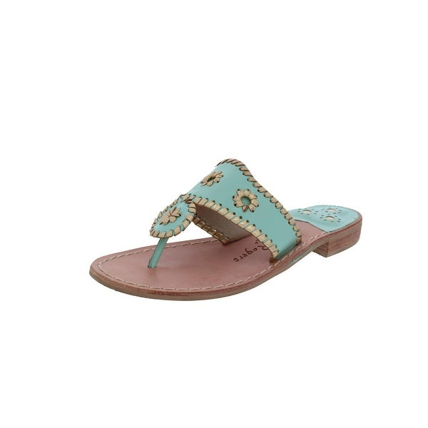 Jack Rogers Womens Slide Sandals Metallic Thong - 9.5 medium (b,m)
