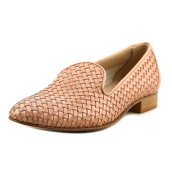 Andre Assous Kourtney Women Pointed Toe Leather Tan Loafer
