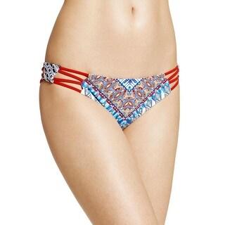 Red Carter Womens Printed Reversible Swim Bottom Separates