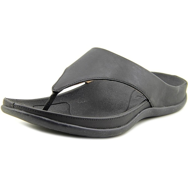 Strive Maui Open Toe Leather Flip Flop Sandal