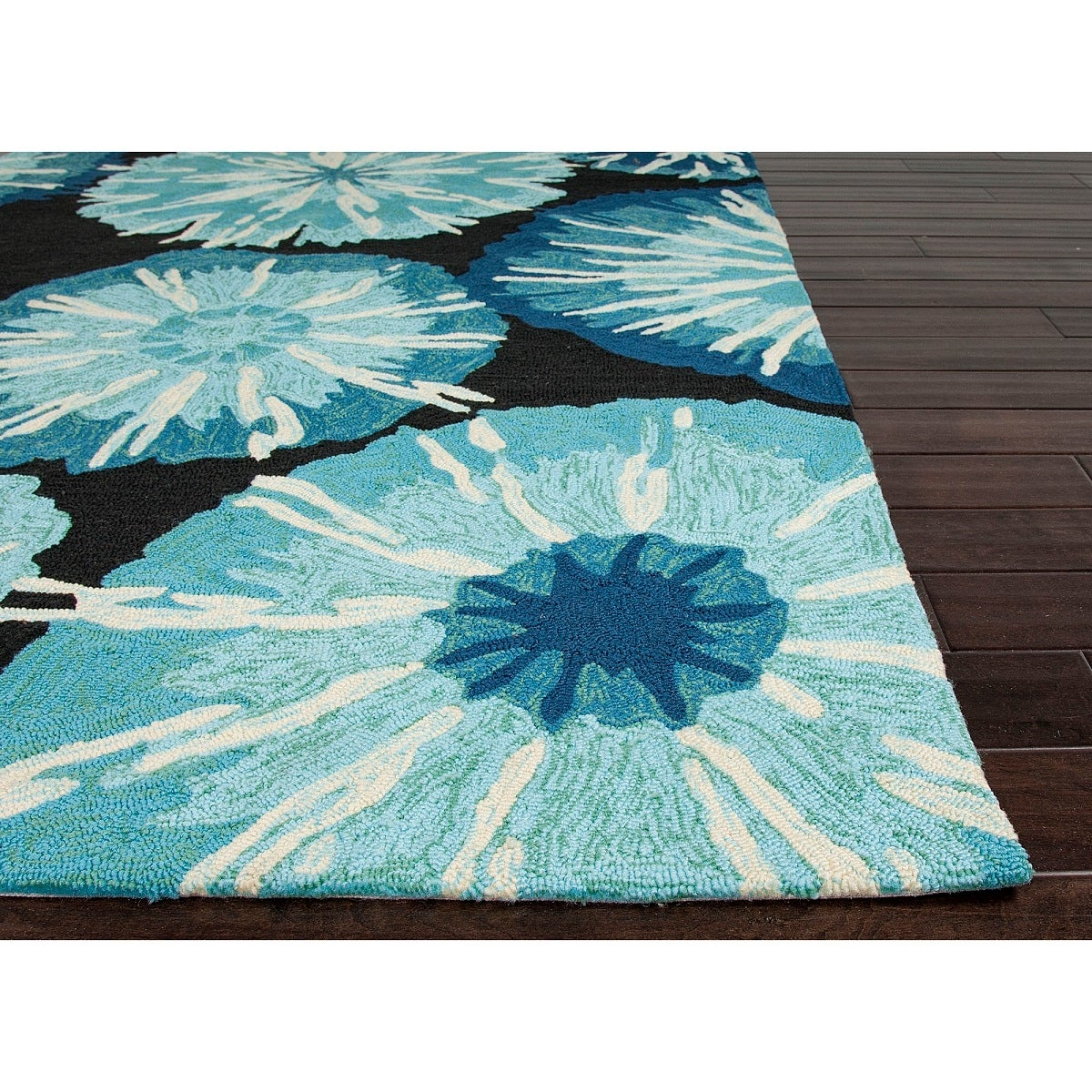 Picture of: Shop 2 X 3 Baby Blue Cobalt Blue Black And White Starburst Design Outdoor Area Throw Rug 2 Footx3 Foot Free Shipping Today Overstock 16671045