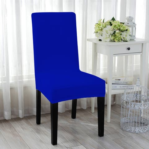 Stretch Spandex Short Seat Slipcover Dining Chair Cover