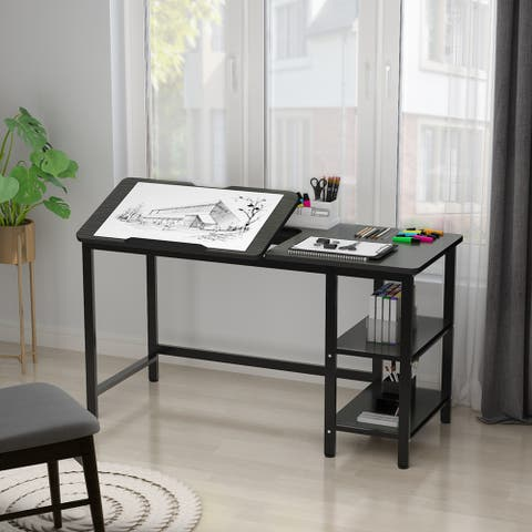 Drafting Table Drawing Table with Adjustable Table Board
