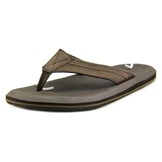 Sanuk Slacker 2 Men Open Toe Synthetic Brown Flip Flop Sandal
