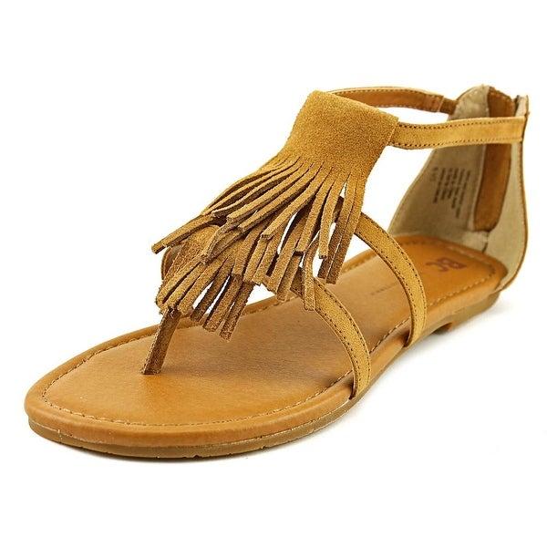 BC Footwear Maltese II Women Open Toe Leather Tan Gladiator Sandal