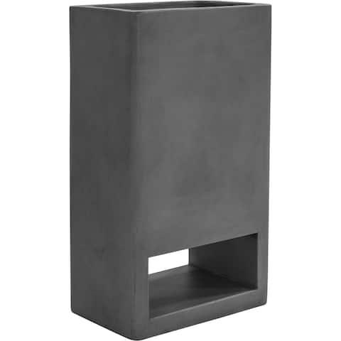 Aurelle Home Modern Dark Grey Concrete Planter