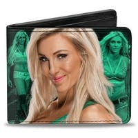 Charlotte 2 Vivid Poses Action Poses Greens White Bi Fold Wallet - One Size Fits most