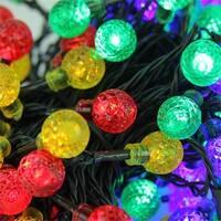 Multi Color LED G20 Globe Christmas Lights, Green Wire, Set